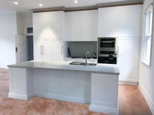 Custom Made Polyurethane Kitchen with Shaker Styled Doors