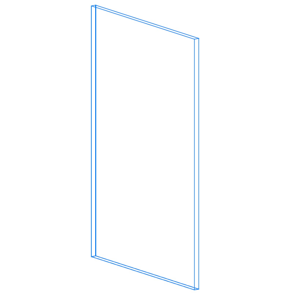 Base End Panel AutoCad Drawing