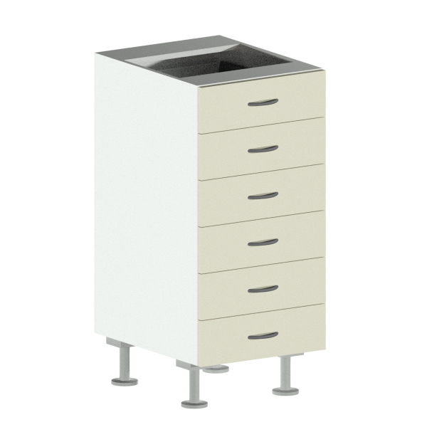 6 Drawer Base Cabinet