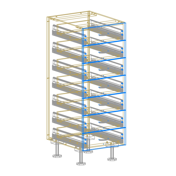 7 Drawer Base Cabinet  AutoCad Drawing