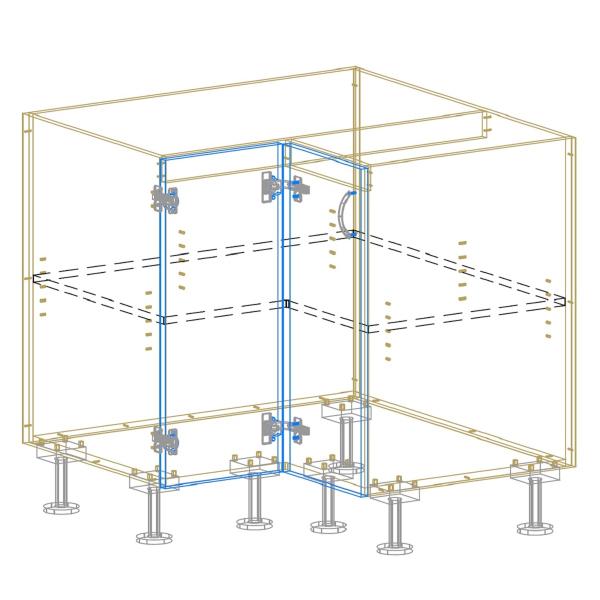 Corner Cabinet AutoCad Drawing