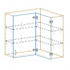 Upper Corner Cabinet AutoCad Drawing