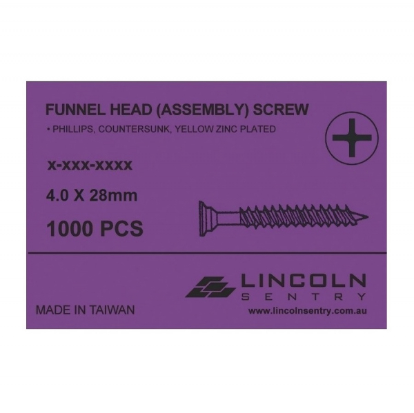Funnel Head Assembly Screws