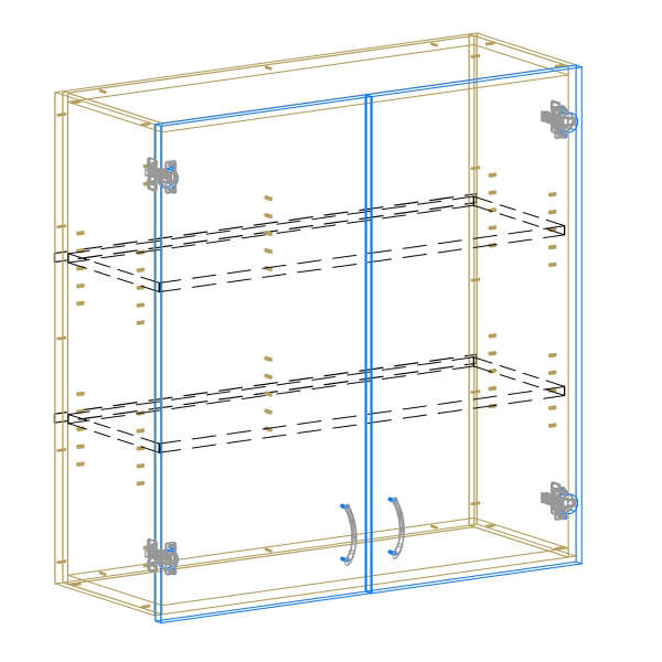 2 Door Upper AutoCad Drawing
