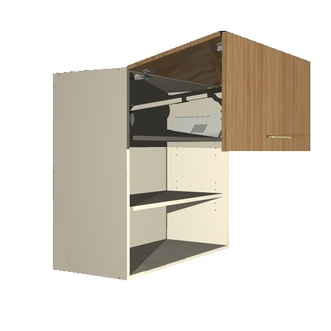 Lift Up Double Door Cabinet Open